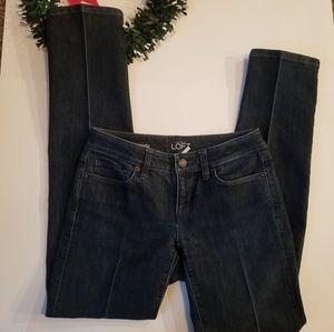 Ann Taylor Loft Curvy Straight Jeans Size 25/0